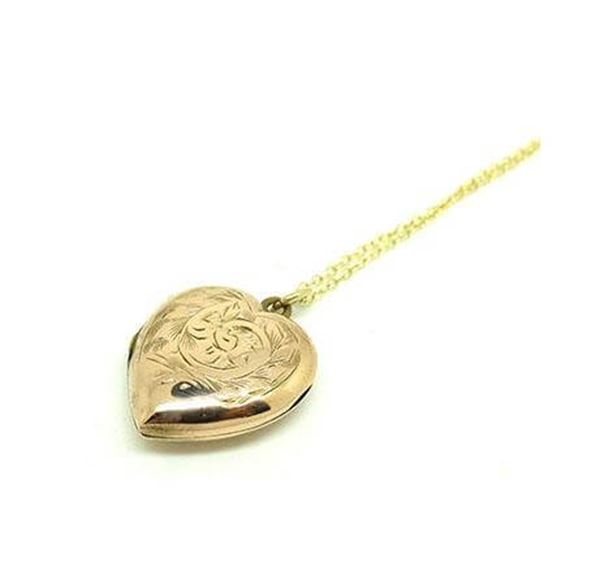 vintage-1930s-9ct-gold-heart-locket-necklace