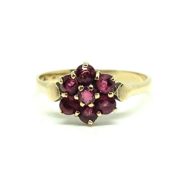 vintage-1954-ruby-flower-9ct-gold-ring