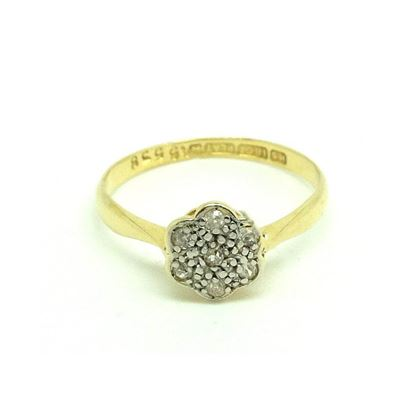 antique-edwardian-diamond-18ct-gold-daisy-ring