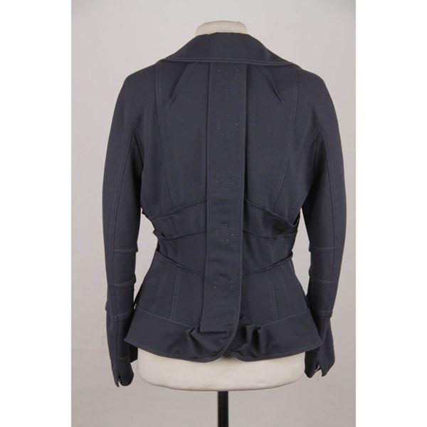 christian-dior-blue-wool-blend-pintucked-blazer-jacket-size-36