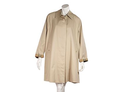 Tan Vintage Burberry Cotton-Blend Trench Coat