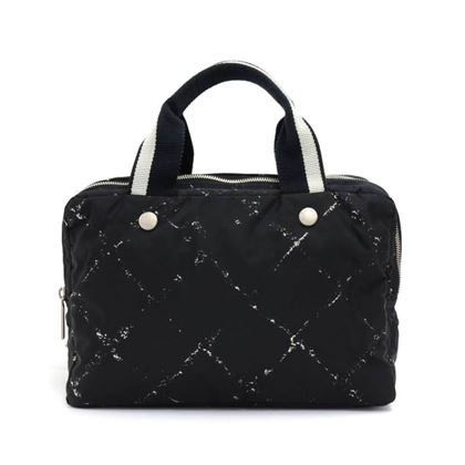 chanel-travel-line-black-x-white-nylon-waterproof-hand-bag-8