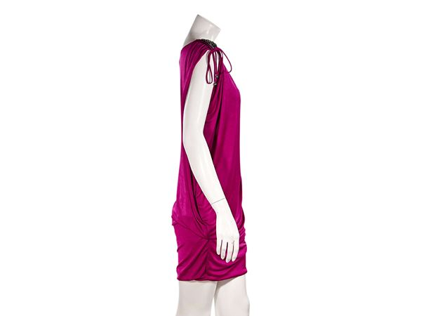 fuchsia-roberto-cavalli-gathered-mini-dress-l-fuchsia