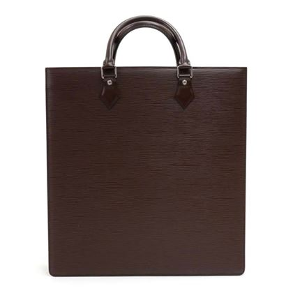 louis-vuitton-sac-plat-brown-epi-leather-handbag-tote-silver-hardware