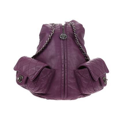 chanel-purple-lambskin-large-backpack-is-back-bag