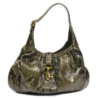 Gucci Shoulder Bag Python Jackie O Green  Pre-Owned Used