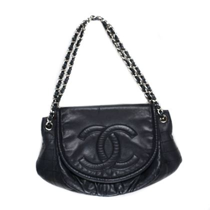 Chanel Bag Black Large Caviar Half Moon