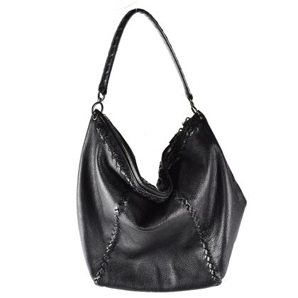 Bottega Veneta Shoulder Bag Xl Hobo Black Leather