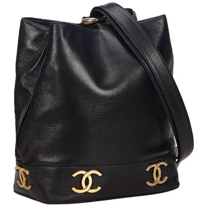 chanel-black-lambskin-leather-gold-toned-cc-bucket-bag