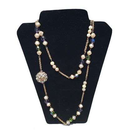 chanel-vintage-pearl-and-green-and-purple-beaded-necklace-with-crystal-ball