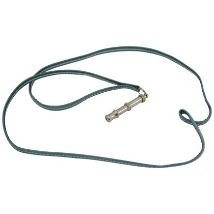 hermes-silver-dog-whistle-necklace-with-blu-leather