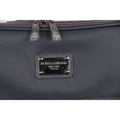 dolce-gabbana-blue-canvas-rolling-suitcase-wheeled-travel-bag