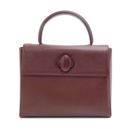 cartier-must-line-burgundy-leather-hand-bag-2