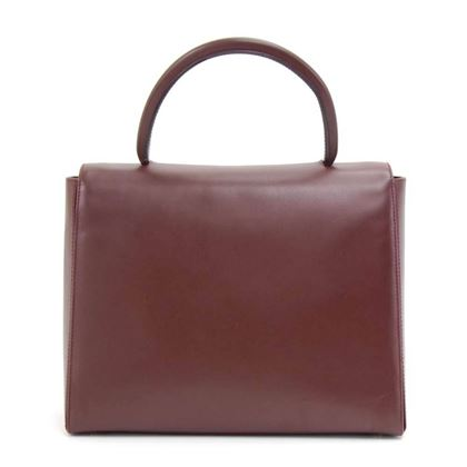 cartier-must-line-burgundy-leather-hand-bag
