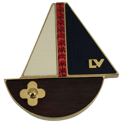 Louis Vuitton Boat Brooche with Stone, Wood and metal