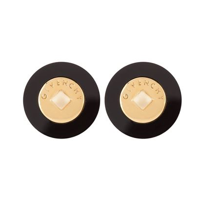 1980s-vintage-givenchy-logo-round-clip-on-earrings