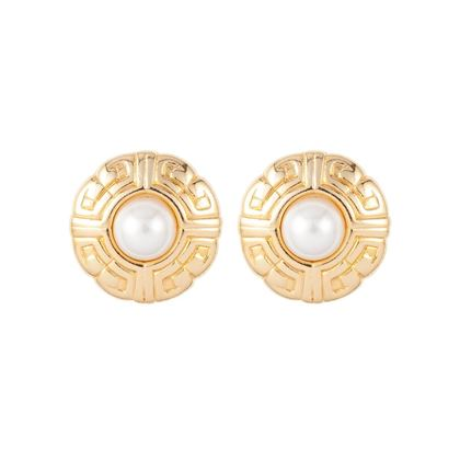 1980s-vintage-givenchy-logo-round-faux-pearl-earrings