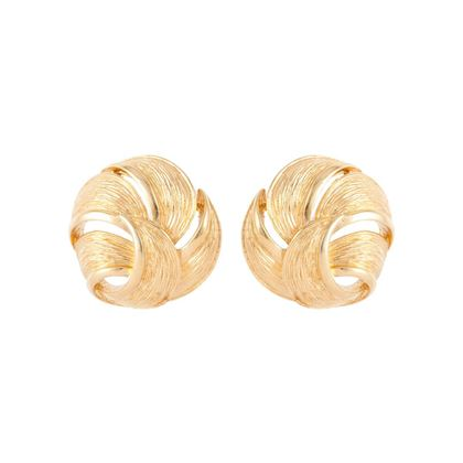 1980s-vintage-givenchy-brushed-leaf-round-earrings