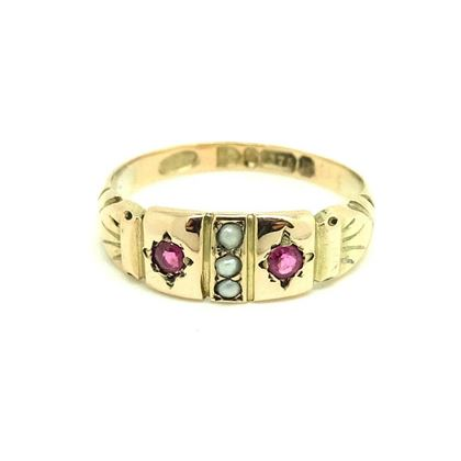 vintage-1940s-ruby-pearl-9ct-yellow-gold-ring-2