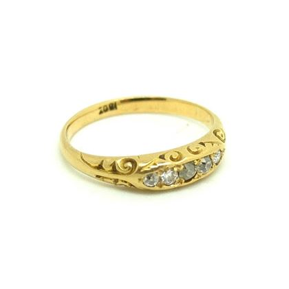 antique-victorian-five-diamond-18ct-gold-ring-5