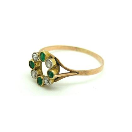 antique-victorian-diamond-emerald-9ct-gold-halo-ring-2
