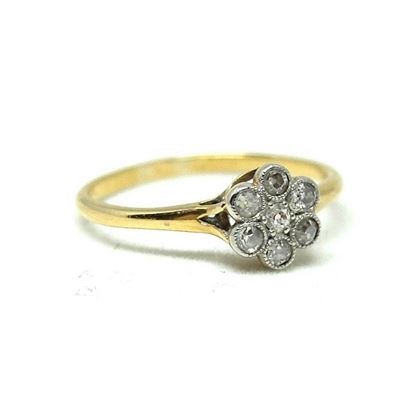 antique-edwardian-01ct-diamond-flower-18ct-yellow-gold-engagement-ring-2