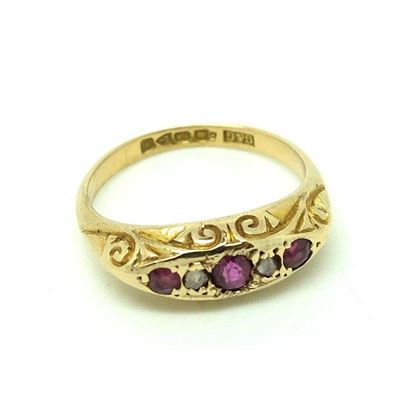 antique-1918-diamond-ruby-18ct-gold-ring-size-m-2