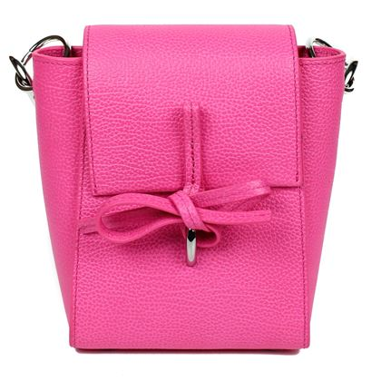 3.1 Phillip Lim Leigh Pink Crossbody Shoulder Bag Hot Pink Leather  New