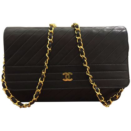 chanel-classic-black-lambskin-quilted-stripes-shoulder-bag-2