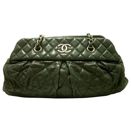authentic-chanel-2011-calfskin-antique-silver-chain-shoulder-bag-black-zip-f09-2