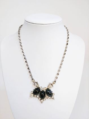 1960s-bogoff-black-stone-clear-rhinestone-necklace-2
