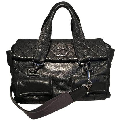 chanel-black-aged-calfskin-quilted-classic-flap-tote-bag-2