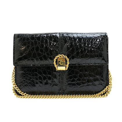 celine-croc-c-logo-chain-shoulder-bag-2