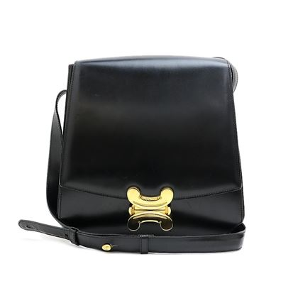 celine-blazon-lock-calf-leather-shoulder-bag-2