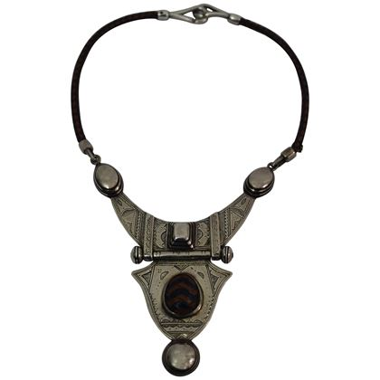 hermes-touareg-silver-and-leather-necklace-1998-4