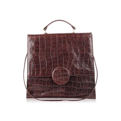 roy-la-vintage-brown-embossed-leather-large-satchel-shoulder-bag-2
