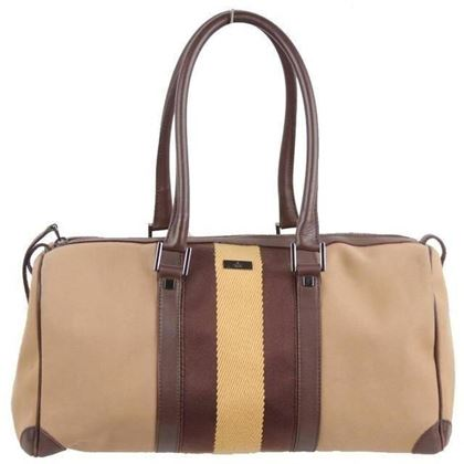 gucci-tan-canvas-boston-bag-handbag-tote-brown-yellow-stripes