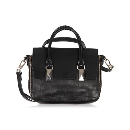 karl-lagerfeld-black-embossed-leather-satchel-bag-2