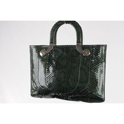 vintage-green-reptile-snakeskin-leather-tote-handbag-purse-2