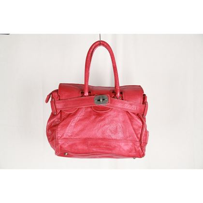 liebeskind-berlin-red-leather-satchel-tote-bag