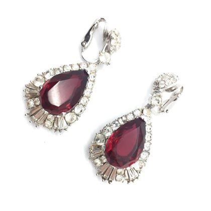 boucher-vintage-earrings-faux-ruby-diamond-1950s-2