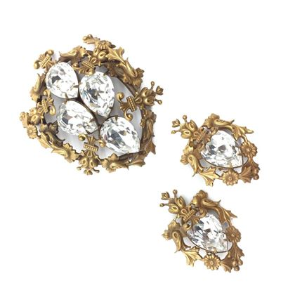 joseff-of-hollywood-vintage-brooch-earrings-crystal-1940s-2