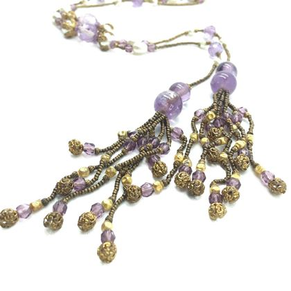 Amethyst Antique Sautoir Necklace 1920s