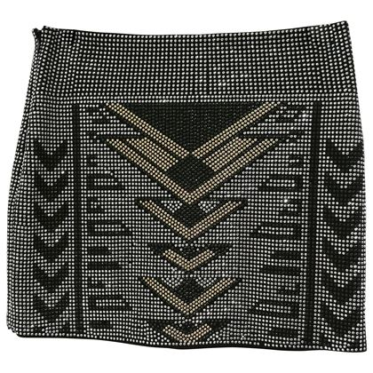 black-silver-and-gold-tone-studs-skirt-2