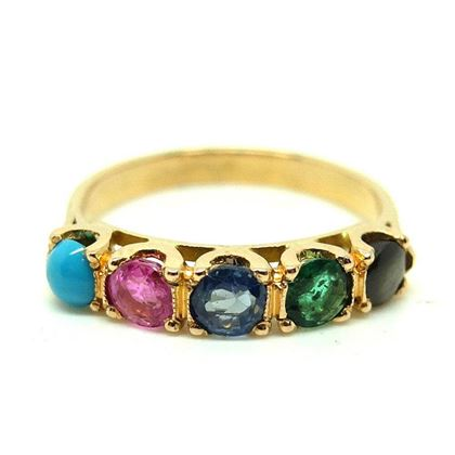 antique-1900-french-emerald-sapphire-gemstone-9ct-gold-ring-ring-size-p8