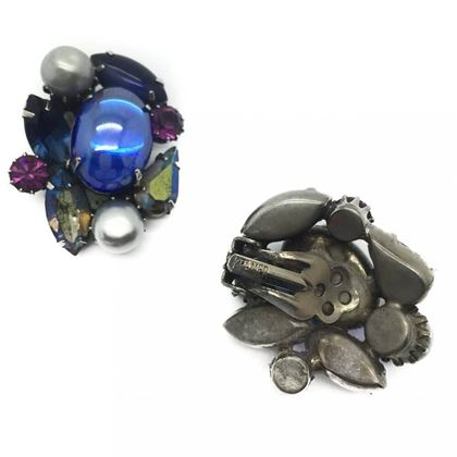 kramer-nyc-vintage-earrings-blue-jewelled-1950s