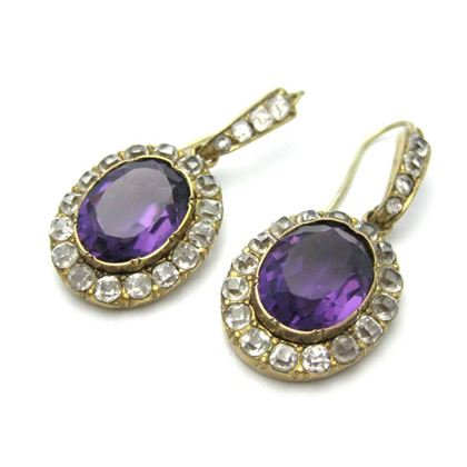 antique-victorian-gold-amethyst-earrings