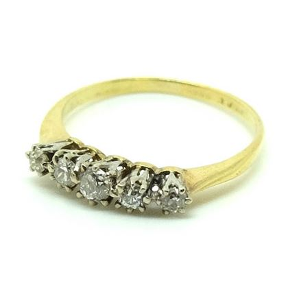 antique-victorian-five-diamond-gold-ring-size-n-12