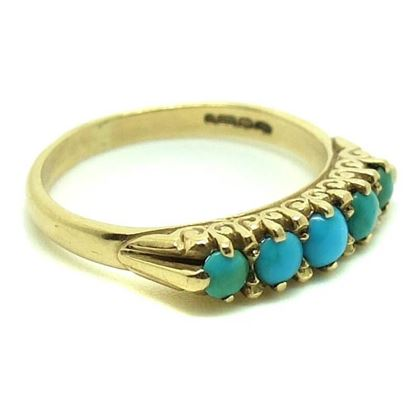 victorian-turquoise-yellow-gold-ring-size-n-12