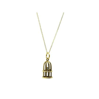vintage-1970s-9ct-yellow-gold-bird-cage-charm-necklace